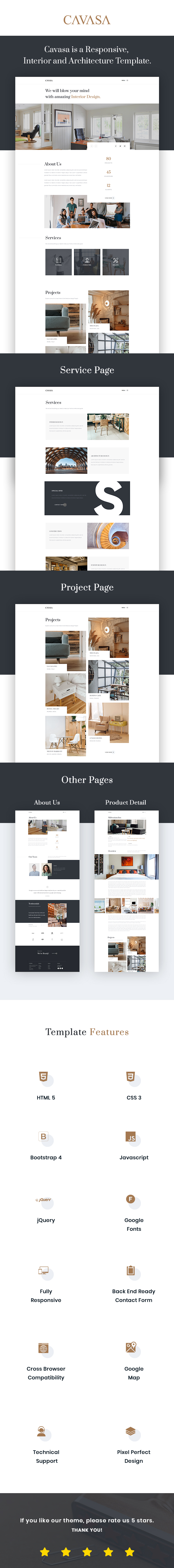 CAVASA - Responsive Interior and Architecture HTML Template - 1